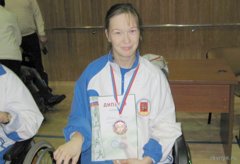 Юлия Лепина - серебряный призер по бочча